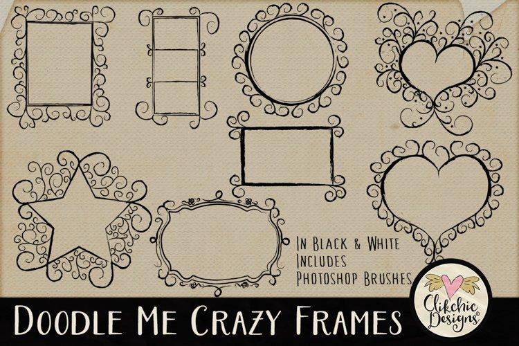 Doodle Me Crazy Frames & Photoshop Brushes example image 1