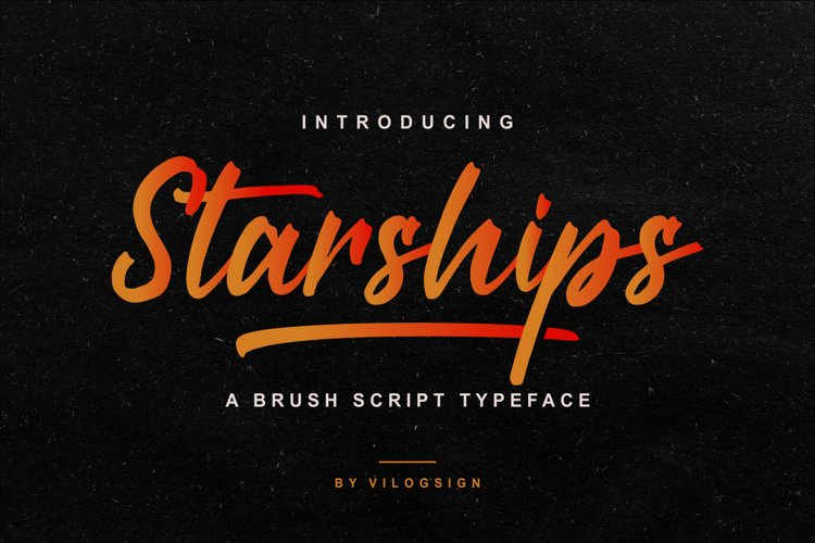 Starships a Brush Script Typeface example image 1