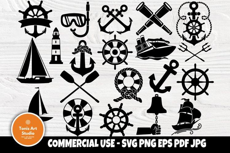 Anchor SVG Bundle, Nautical Svg, Boat Svg, Summer Clipart