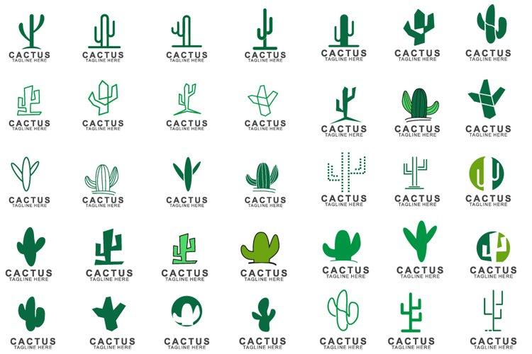 Set of Cactus logo example image 1