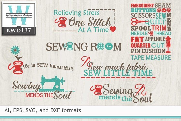 BUNDLED Sewing SVG KWD137 example image 1