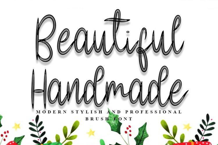 Beautiful Handmade - Modern Brush Font example image 1
