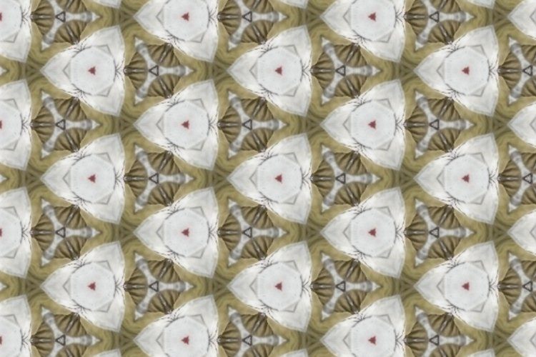 canvas with unusual abstract geometric pattern