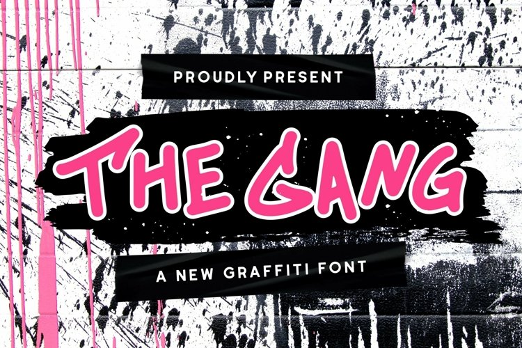 Web Font The Gang Font example image 1
