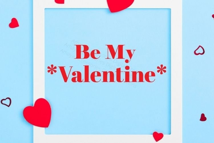 Be My Valentine SVG, Instant Download example image 1