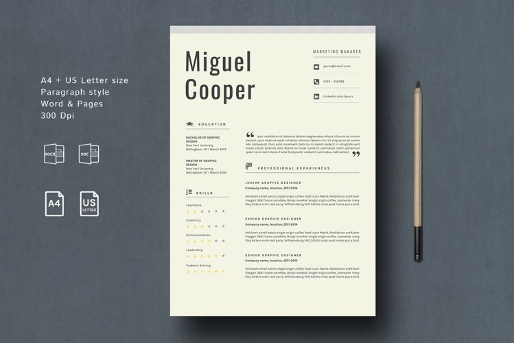 Creative Resume Template CV Design example image 1