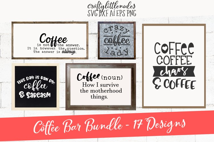 Coffee Bar Design Pack SVG example image 1