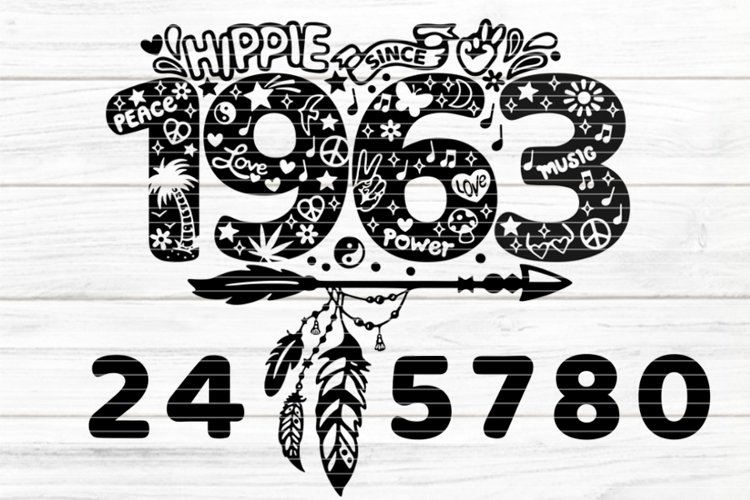 """""""hippie since"""" for Cutting Lasercut Print SVG DXF PDF EPS example image 1"""