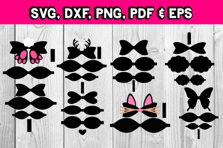 Hair bow template bundle #1 - diy hair bows - svg for bows - Free Design of The Week Design2
