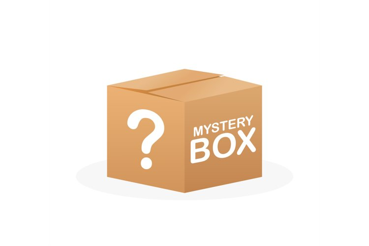 Mystery box. Packaging for concept design. Surprise present. example image 1