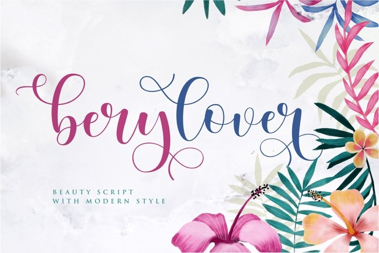 berylover - script fonts example image 1