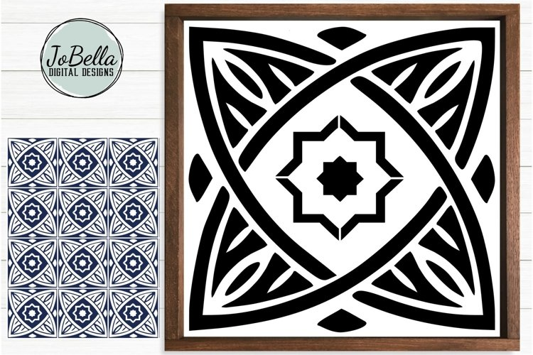 Moroccan Tile 2 SVG, Stencil, Sublimation Design & Printable