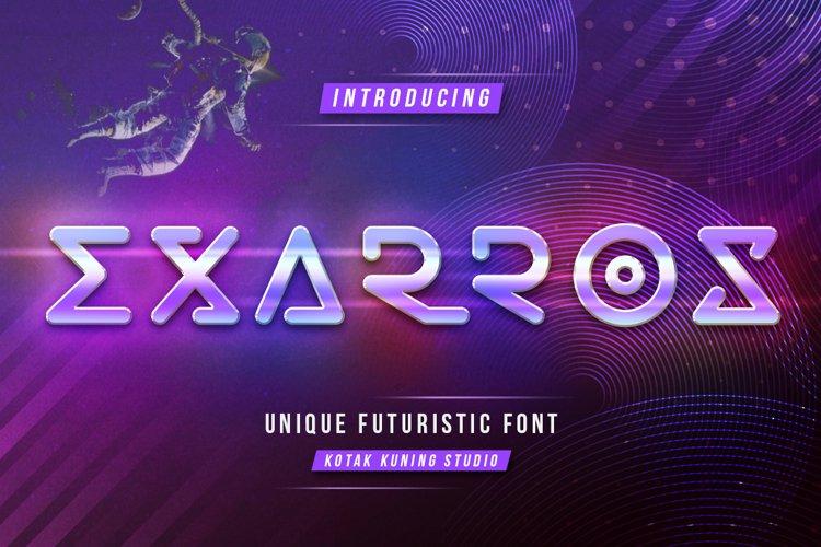 Futuristic Techno - Exarros Font example image 1