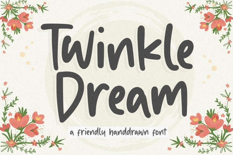 Twinkle Dream Friendly Handdrawn Font example image 1