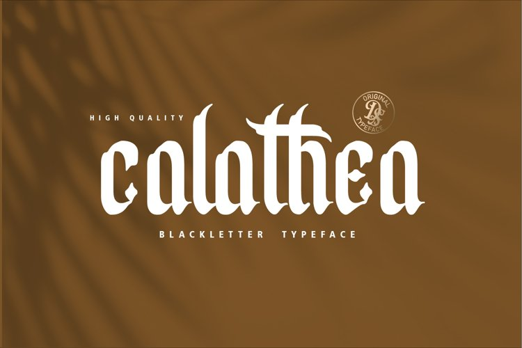 Calathea Display Blackletter Font example image 1