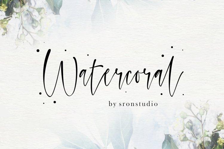 Watercoral // Natural Script Font example image 1