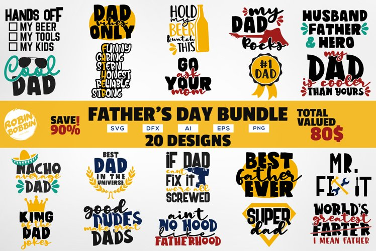Fathers Day Bundle SVG - Daddy Quotes Bundle - Dad Bundle