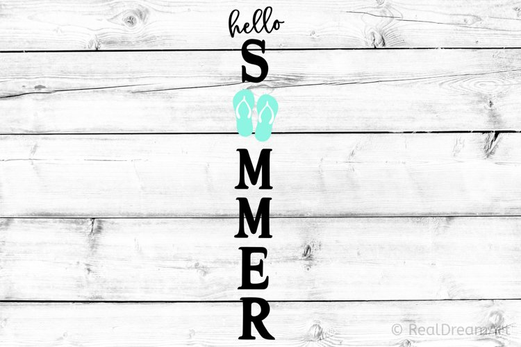 Hello Summer Porch Sign SVG, DXF, PNG, EPS example image 1