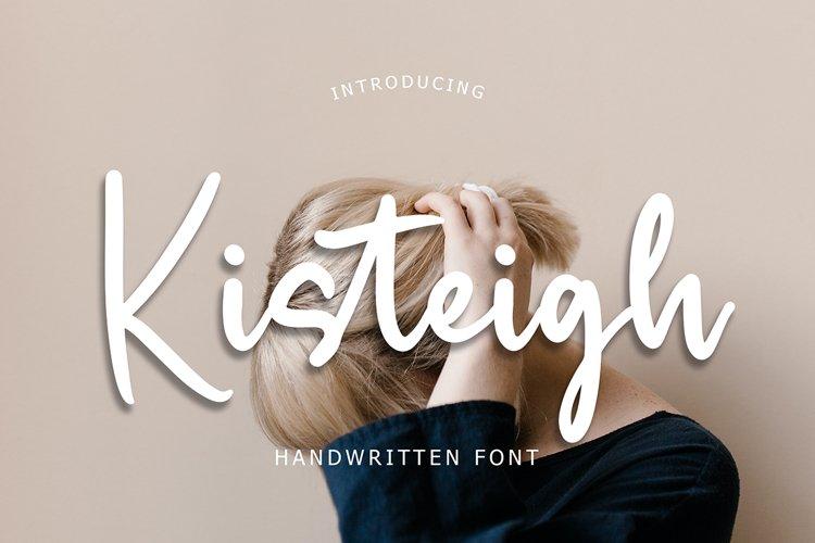 Kisteigh Handwritten Font example image 1