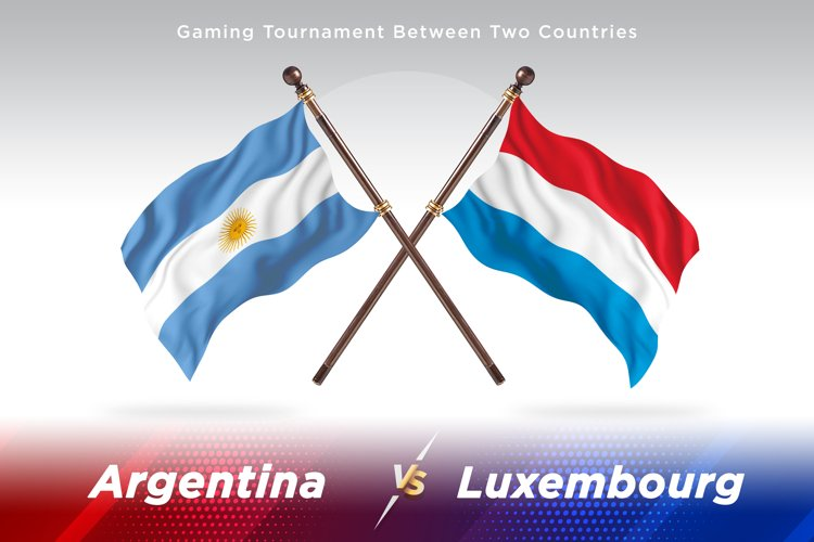 Argentina vs Luxembourg Two Flags example image 1