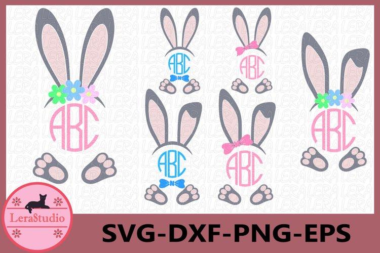 Bunny Clipart, Bunny Monogram, Boy Bunny SVG, Girl Bunny Svg
