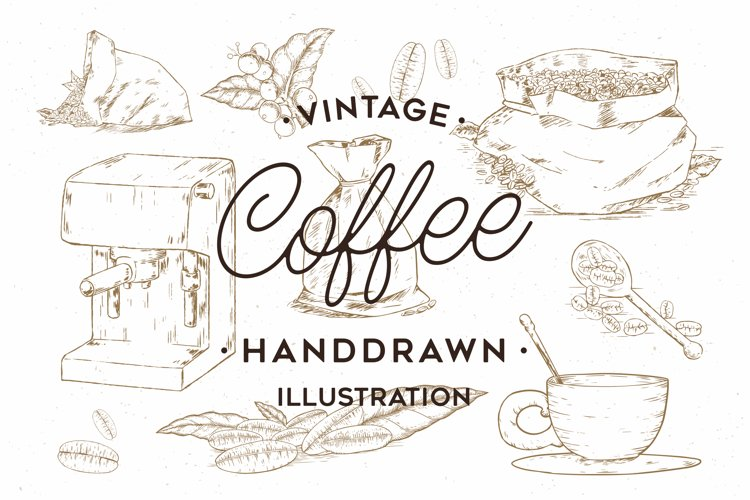 Vintage Coffee Handdrawn Illustration example image 1