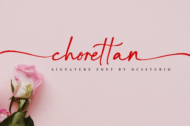 Chorettan Font example image 1
