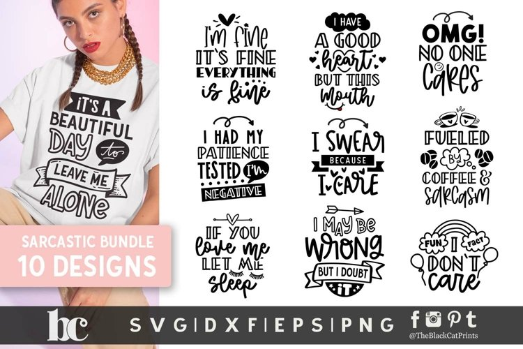 Sarcastic SVG Bundle | Sarcastic Bundle| Sarcastic Quotes