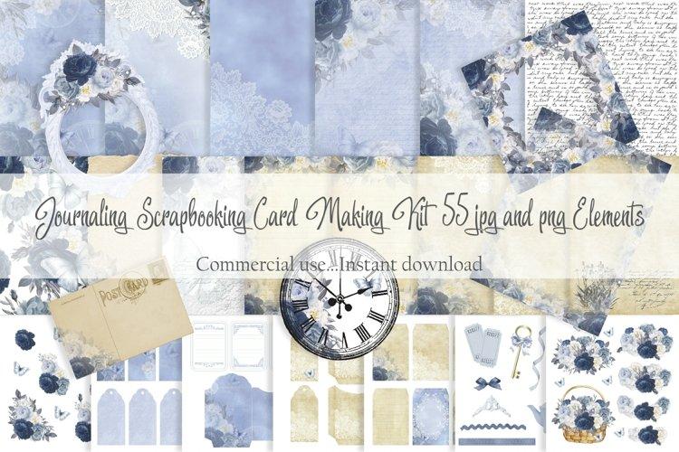 Journaling Scrapbooking Cardmaking Kit Blue