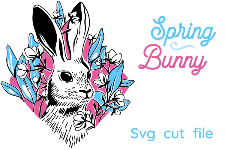 Spring Bunny SVG cut file example