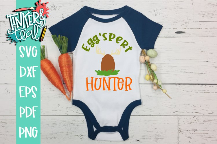 Eggspert Hunter Deer Easter SVG example image 1