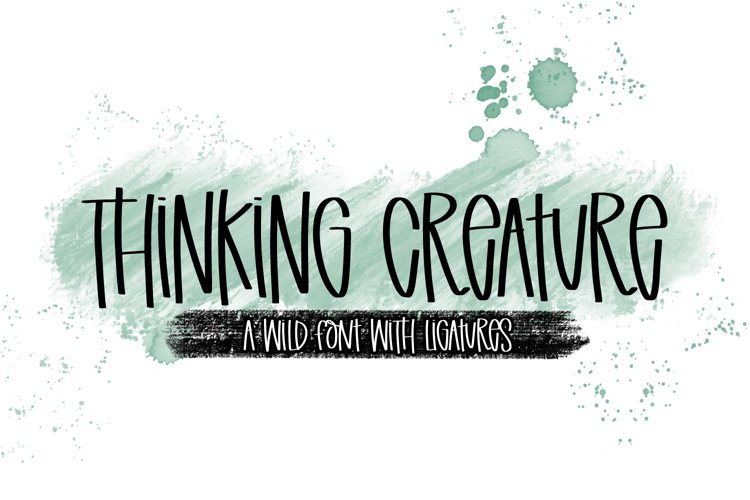 Thinking Creature - A Wild Font With Ligatures example image 1