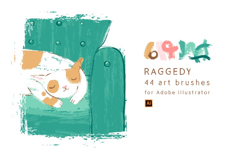 Raggedy Brushes for Illustrator