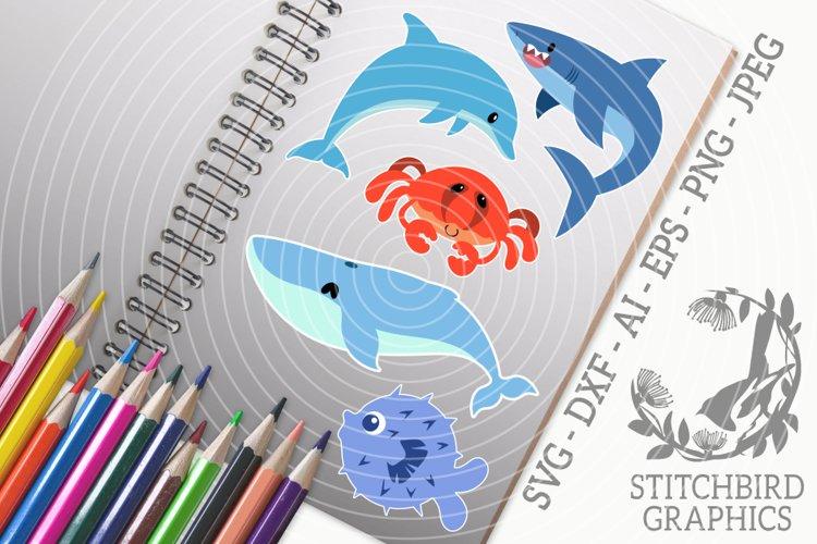 Sea Creatures Bundle SVG, Silhouette Studio, Cricut, Eps example image 1