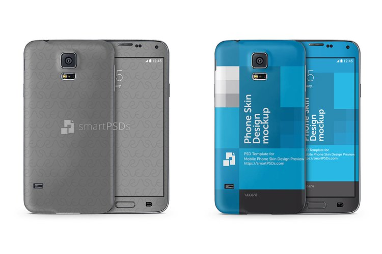 Samsung Galaxy S5 Mobile Skin Design Template 2014 example image 1