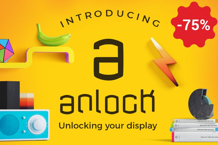 anlock - Typeface example image 1
