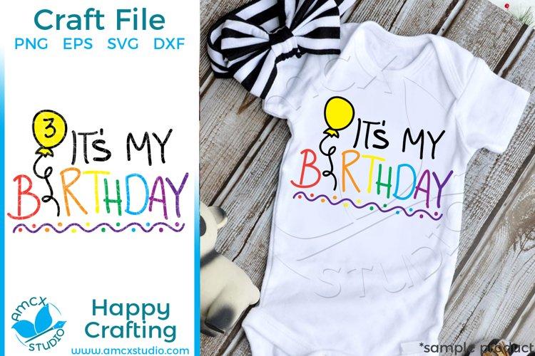 It's My Birthday Craft SVG example