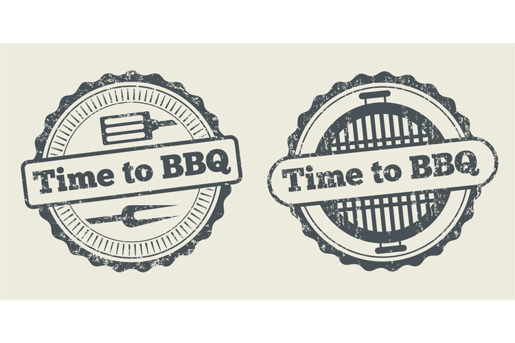 Barbecue and grill label steak house restaurant menu design example image 1