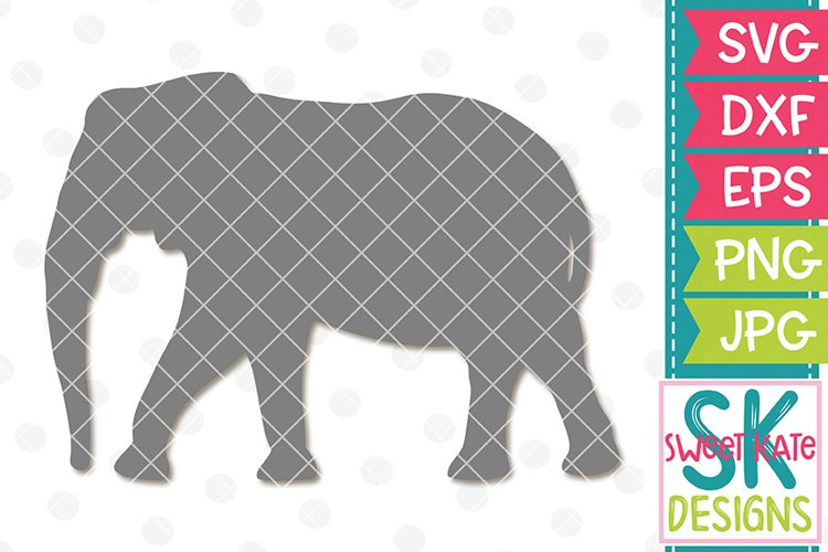Elephant Silhouette SVG DXF EPS PNG JPG