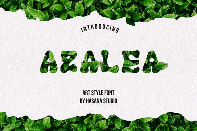 Azalea art font example image 1