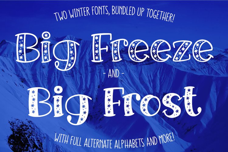 Big Freeze & Big Frost - winter font duo example image 1