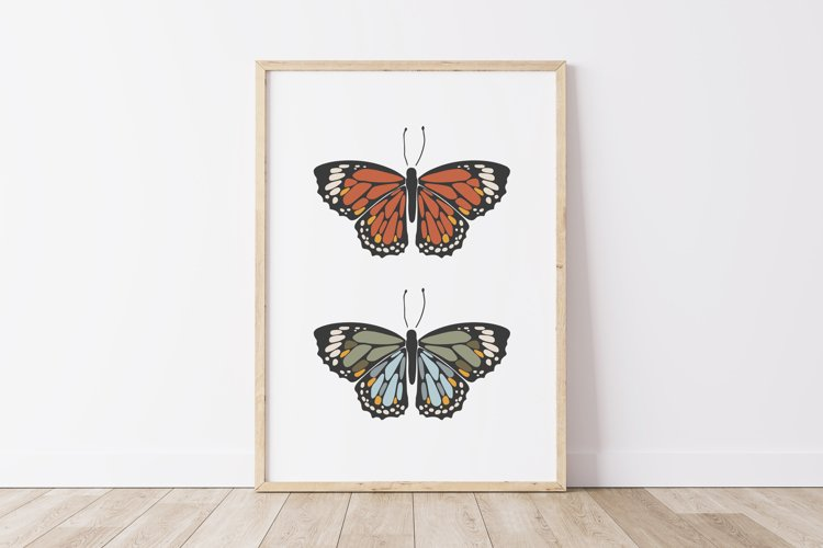 Boho butterfly print, Digital butterfly print, Birthday gift example image 1