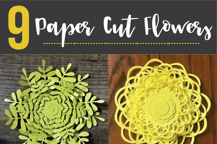 Paper Cut Flowers SVG Cut File - Paper Cutting Bundle DIY - Free Design of The Week Design0