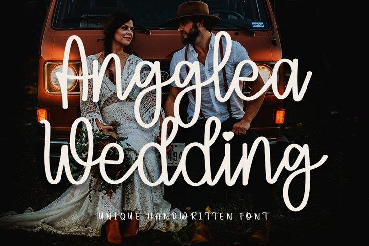Angglea Wedding - Unique Handwritten Font example image 1