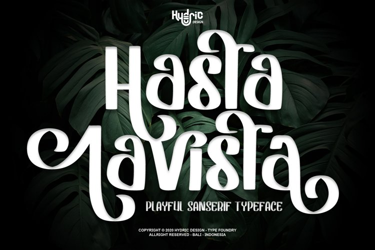 Hasta Lavista - Playful Sans Serif example image 1