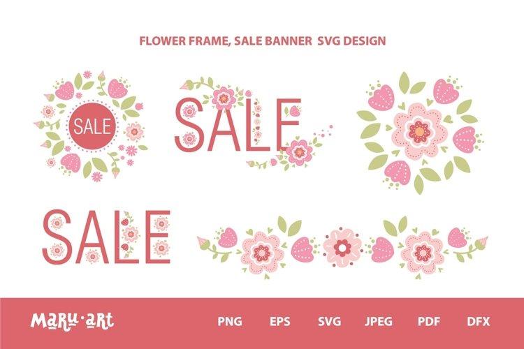 FLOWER FRAME, SALE BANNER SVG DESIGN