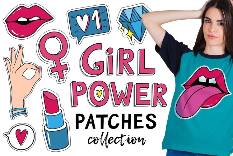 Girls patches and pins example image 1