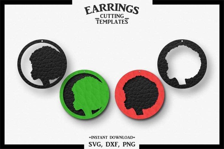 Afro Lady Earrings, BLM Earrings, Cut File, Cricut, SVG DXF example image 1