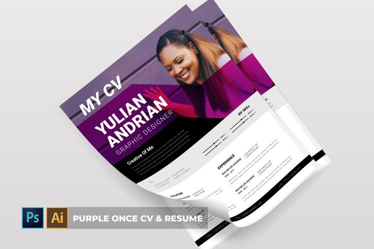 Purple Once | CV & Resume example image 1