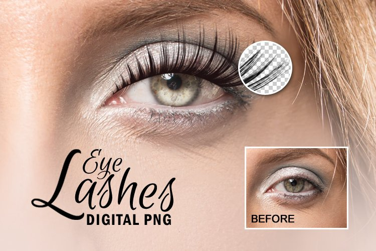 Beauty Makeup Digital Eyelash Transparent PNG Overlay